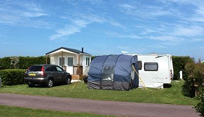Emplacement avec sanitaire individuel en Normandie