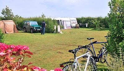 Emplacement camping randonneurs Normandie