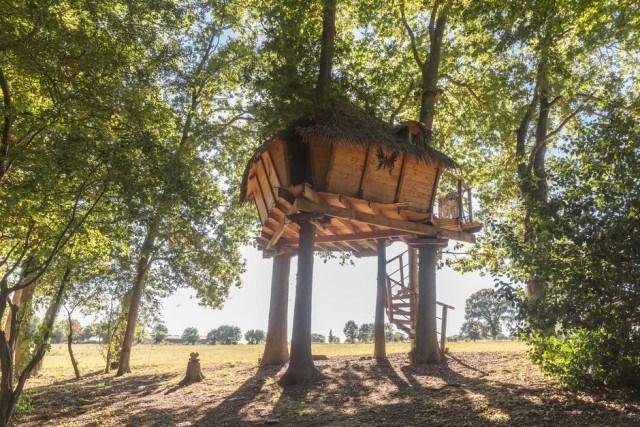 cabane dans les arbres normandie, séjour insolite