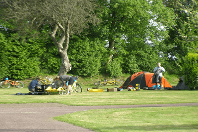 emplacement cyclocampeur camping