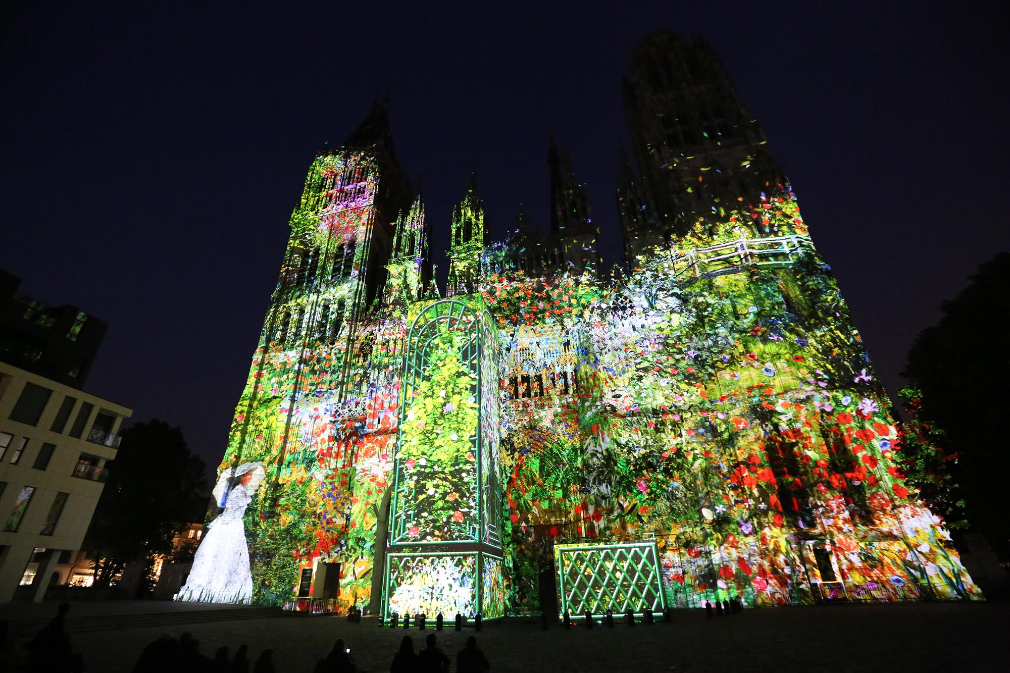 Cathédrale de Caen en lumière