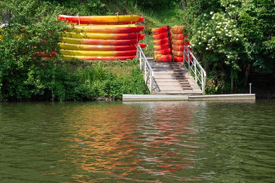 Camping Rochers des parc - Canoe kayak
