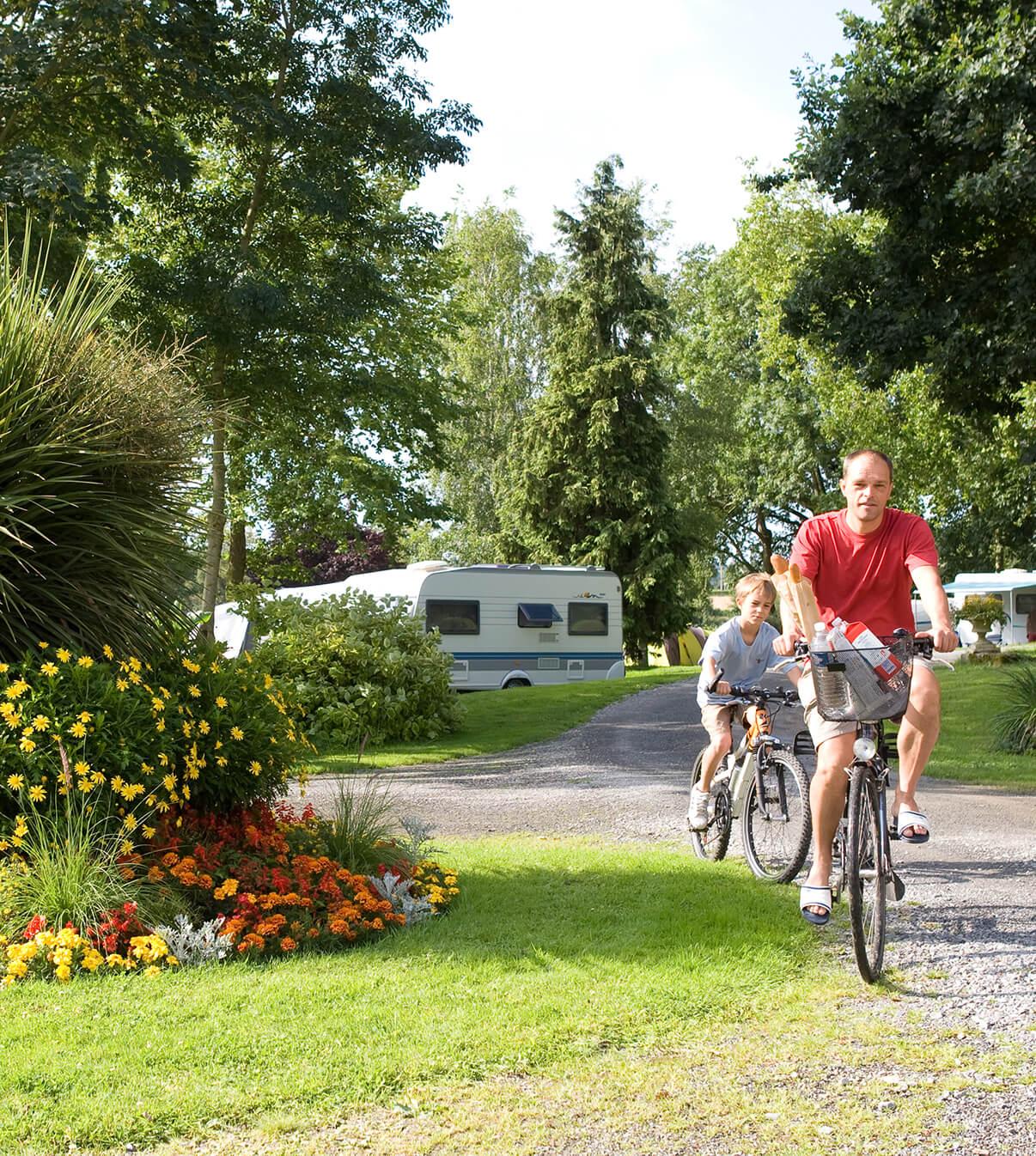 Campings normands - accueil cyclotouriste et familiale